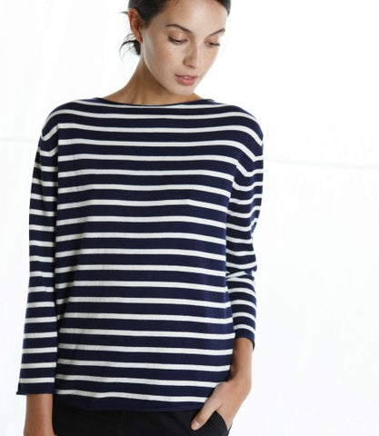 resort cotton cashmere tee striped
