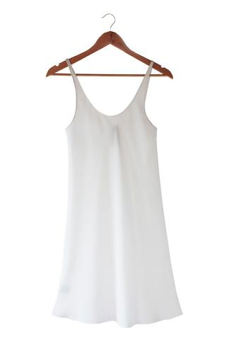 White silkbody petticote slip Shop online from Hall Greytown New Zealand
