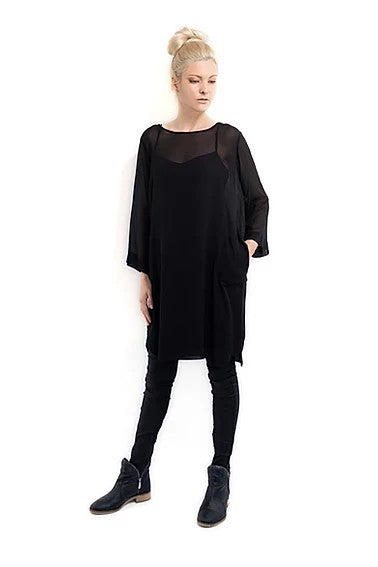 Harlowe Wedge  Dress Black