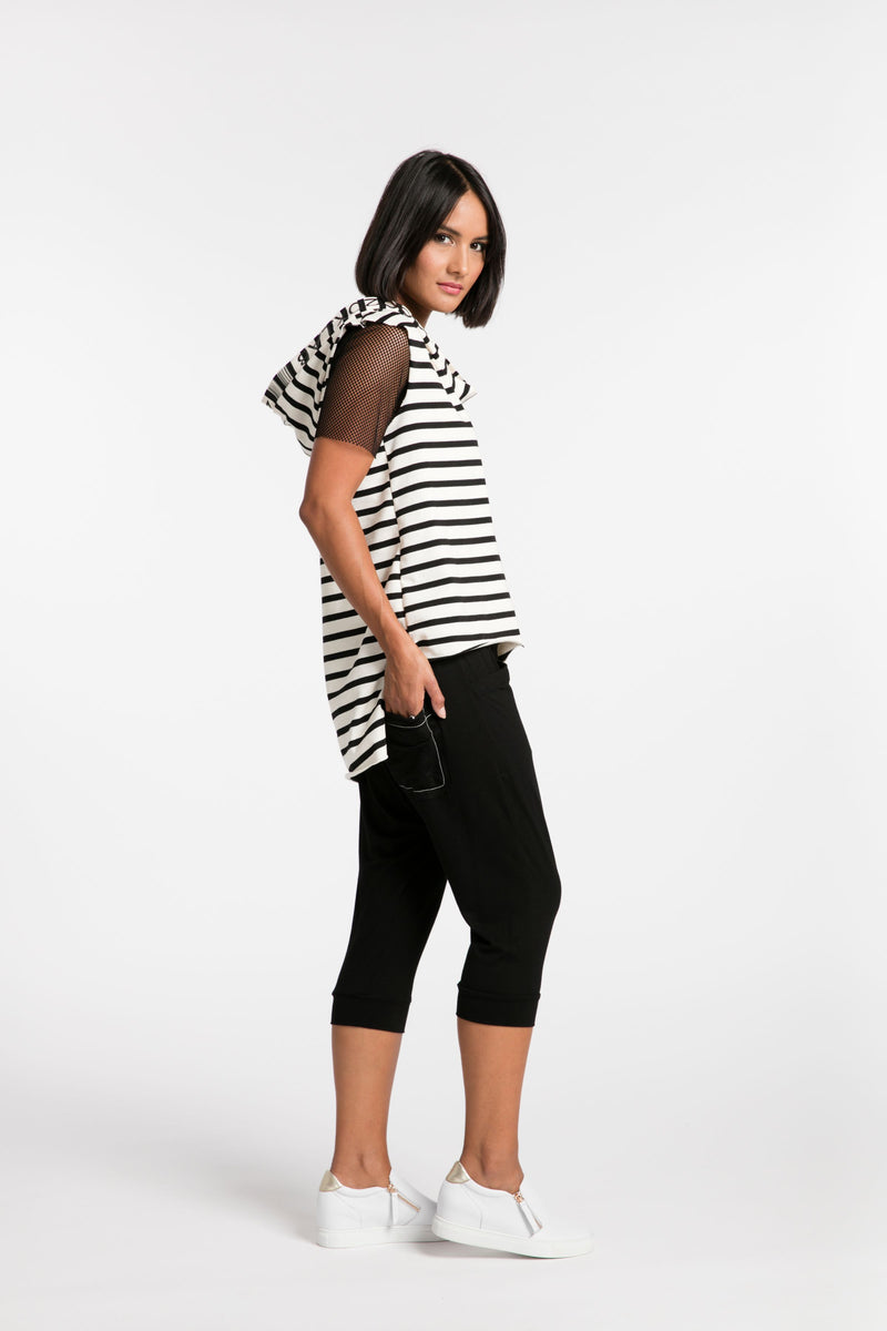 STYLEXLAB Read my Lips Short 191 Black Cotton