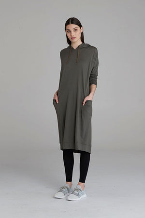 Obi Merino Sweater Dress 83823 Khaki