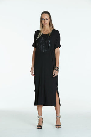 Obi  Heart Maxi  Dress 93711BH Black