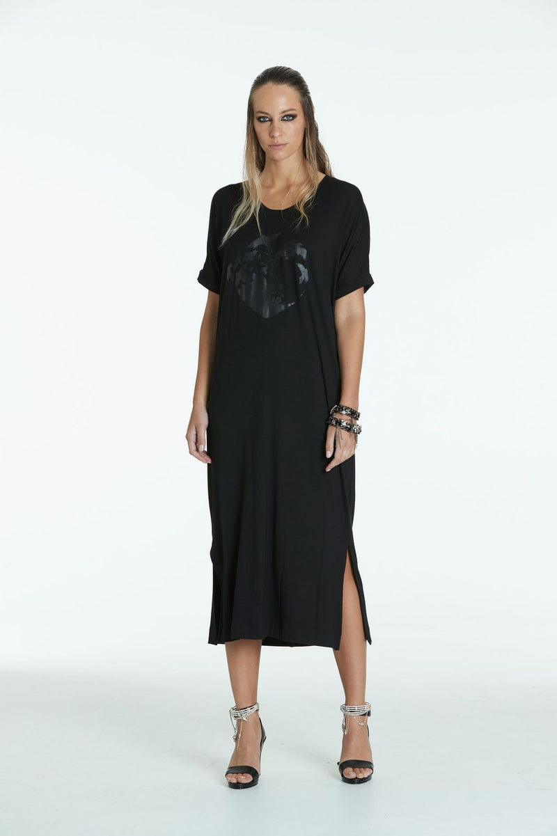 Obi Black Heart Maxi  Dress 93711BH Black