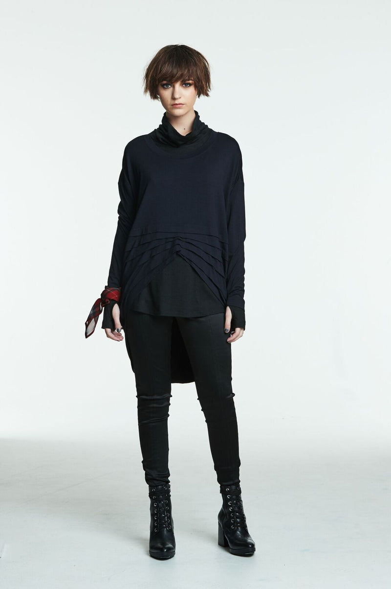 Obi Black Merino Turtle Neck 93748 Black