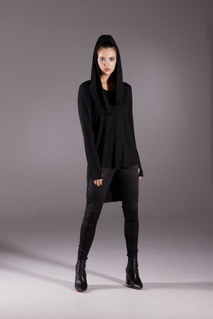 Obi Black Merino with Detachable Hoodie 93793 Black