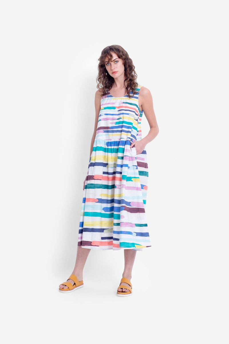 Elk Elme Dress A3333 Painted Stripe