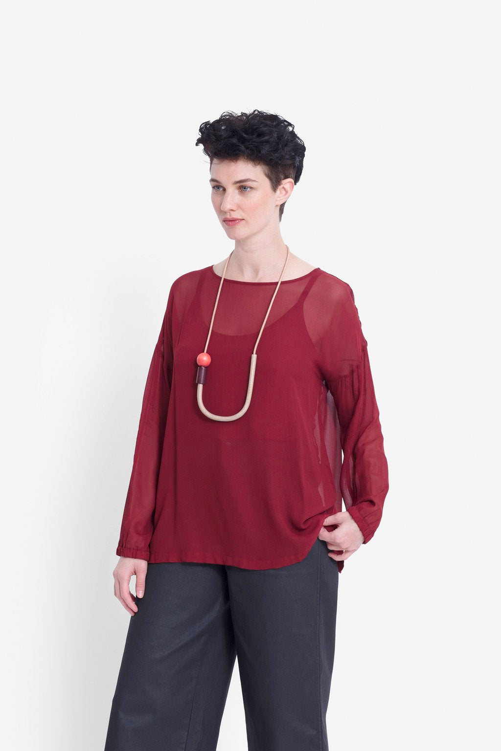 Elk Catja Sheer Top A3418R  Red Rust