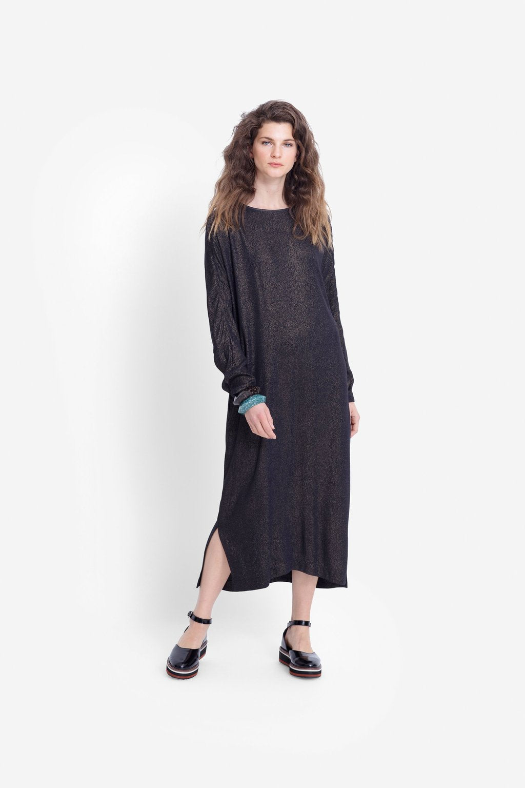 Elk Espen Dress A3444 Metallic Moonlight