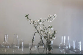 Set of 3 Glass vases small
