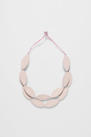 Elk Leaf Necklace N2460 Pink