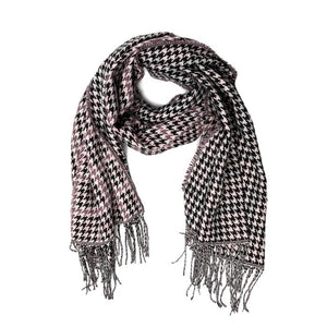 Houndstooth Scarf Pink