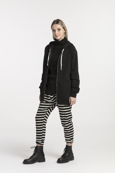 STYLEXLAB Blank canvas zip sweatshirt 283  Black