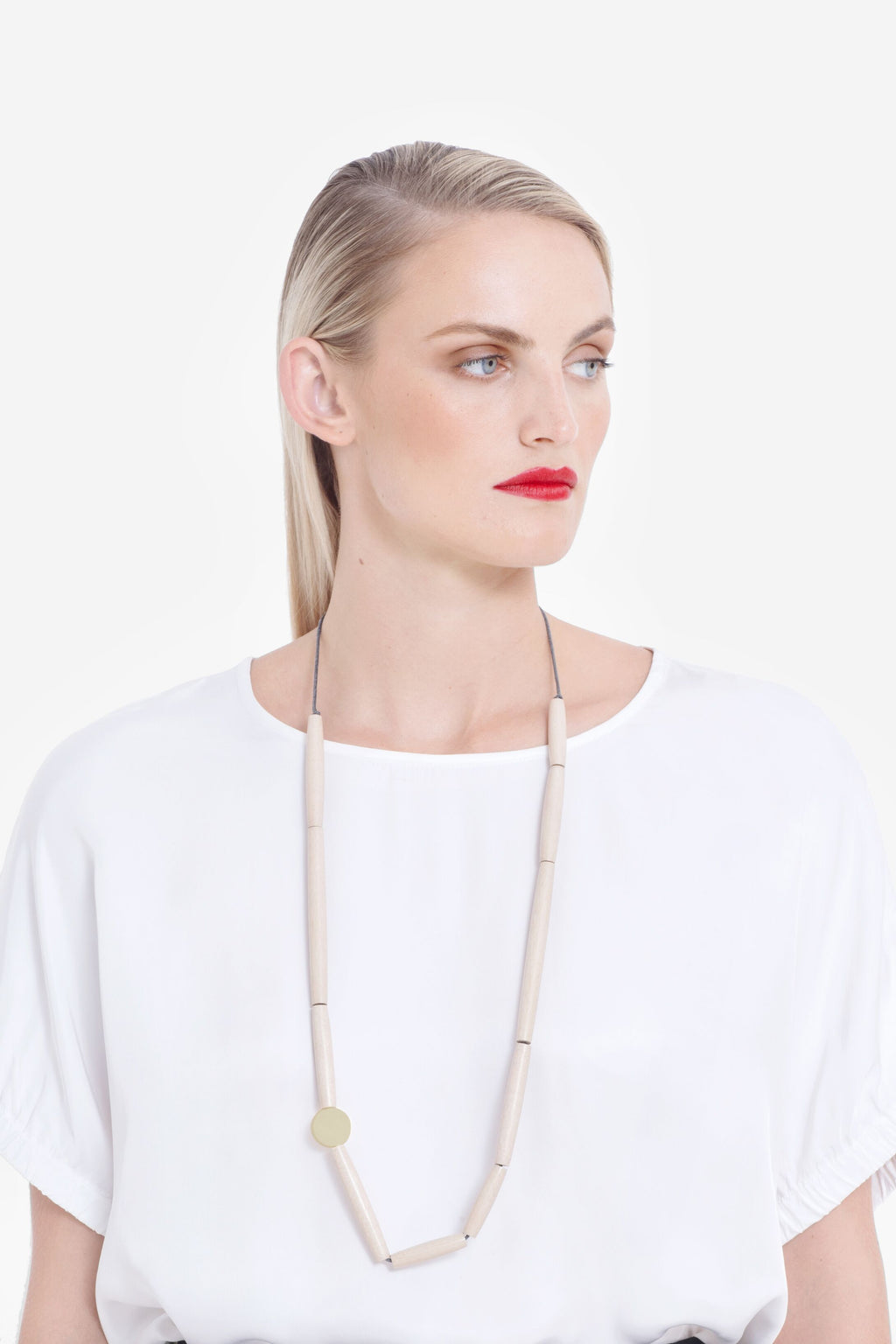 Elk Lanna Long Necklace N2411 Maple/ Gold