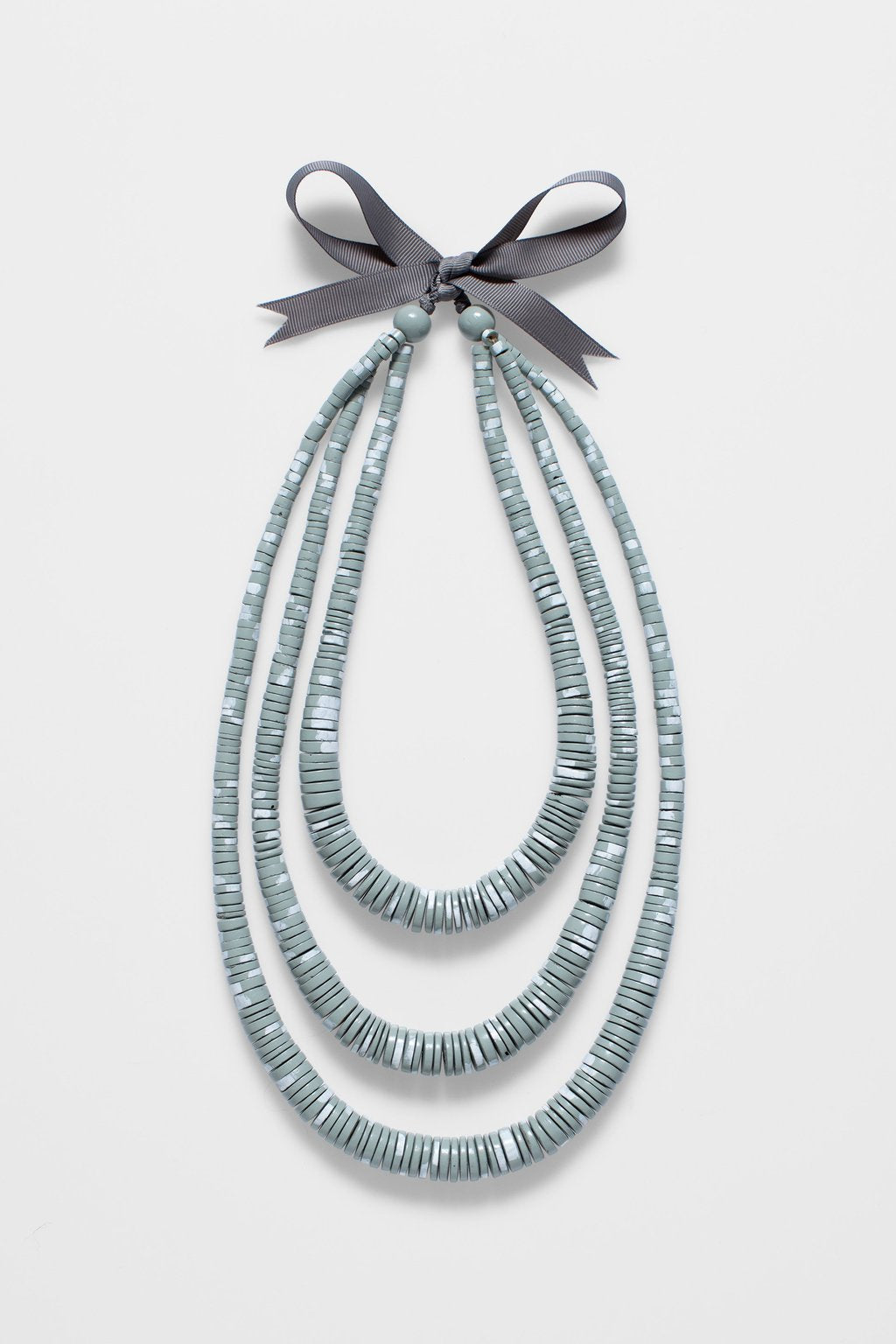 Elk Janne Necklace N2425 Grey/White