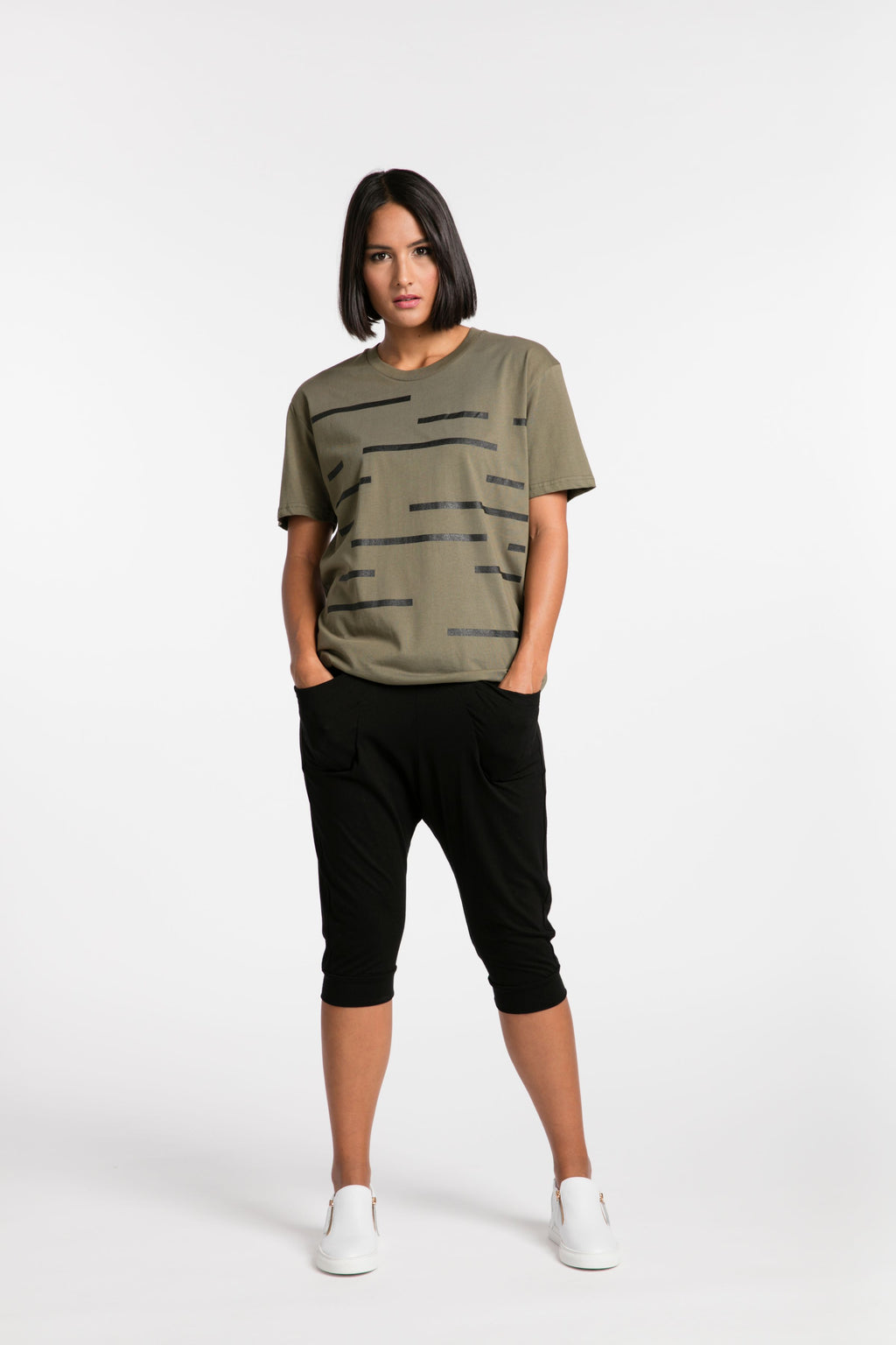 STYLEXLAB Crossing The Lines Tee 243 Olive/Black