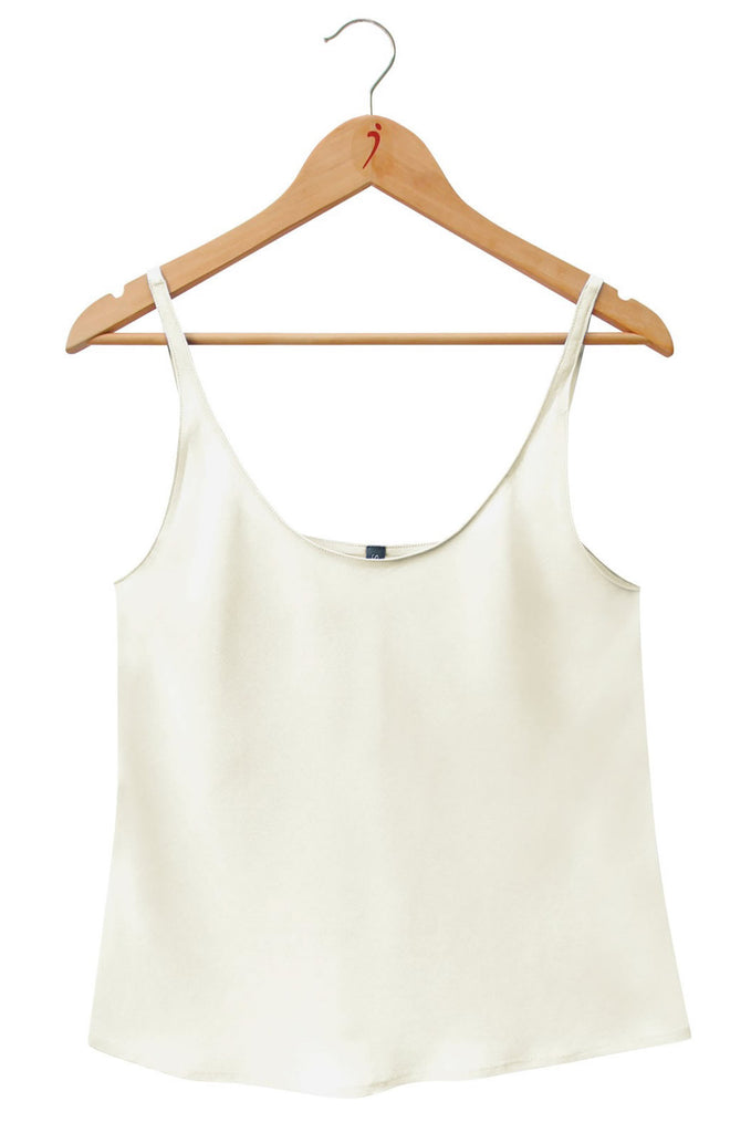 SILK CAMISOLE Natural White
