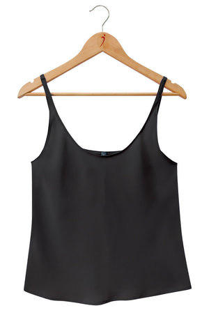 SILK CAMISOLE Black