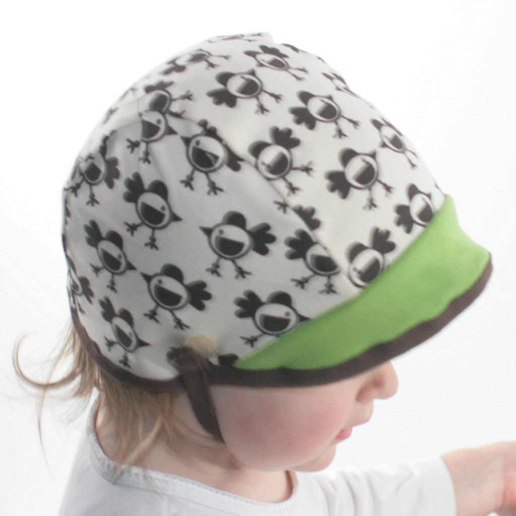 Cotton Aviator Baby Hat in Chickies