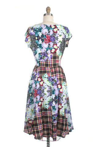 Rose Plaid Dress in Violet - last size S!