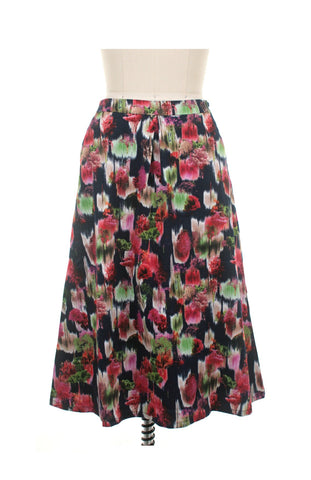 Abstract Trees Skirt in Navy - last size S!