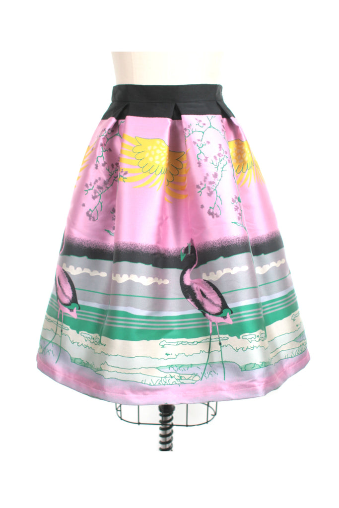 Flamingo Pleat Skirt in Pink - last size S!