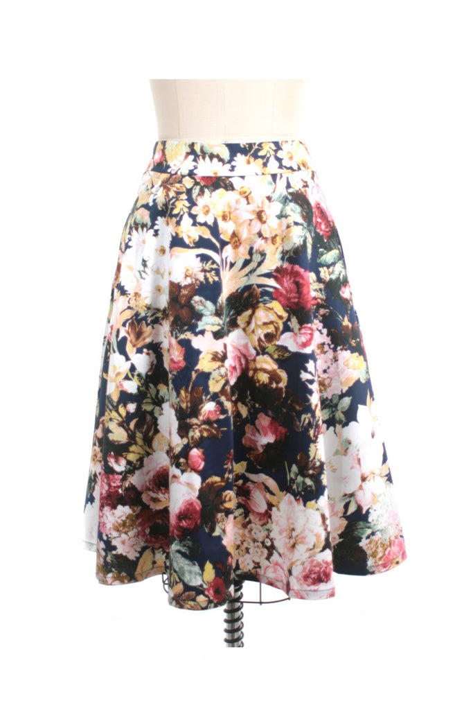 Antique Rose Skirt in Navy - last size S!