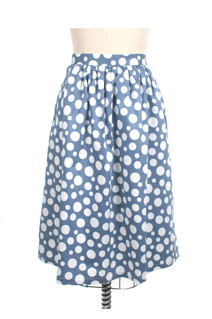 Polka Dot Skirt in Blue