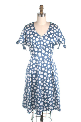 Polkadot Dress in Blue