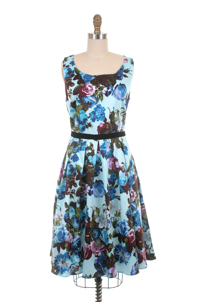 frock shop berkshire blue flower dress frockshop