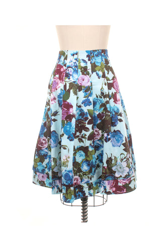 frock shop frockshop berkshire light blue flower pleated skirt