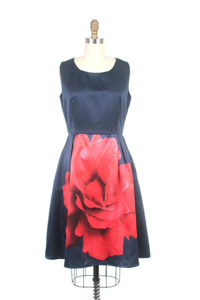 Rose Dress in Navy