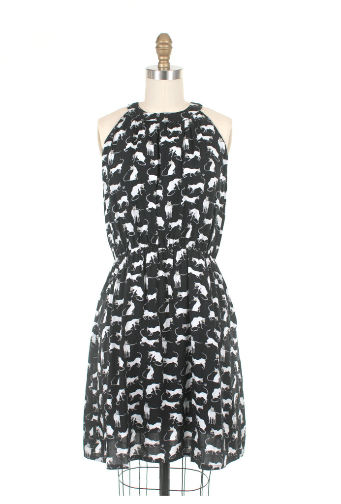 Frockshop Frock Shop siamese cat halter dress