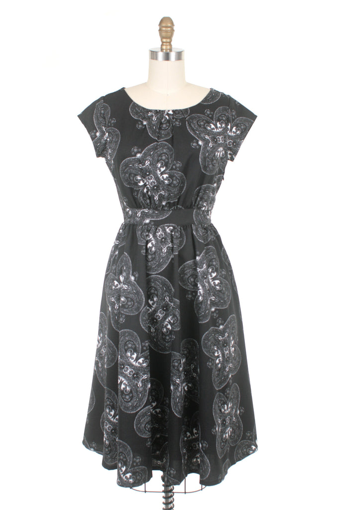Medallion Dress in Black - Last One!