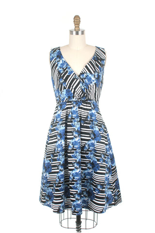 Bergman Stripe Dress in Blue