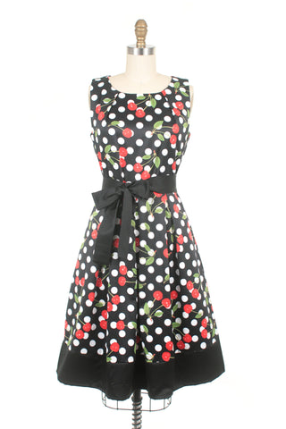Cherry Dress in Black