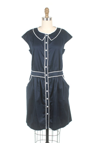 Sailor Dress in Navy