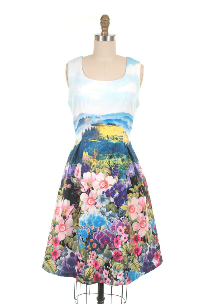 Landscape Dress in Multi