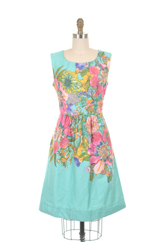 Bloom Dress in Aqua