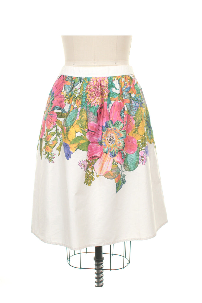 frock shop bloom flower skirt white frockshop