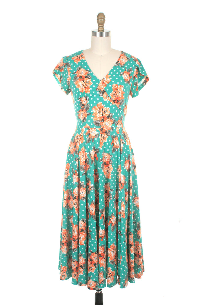 frock shop roxy flower dot jersey mint dress frockshop