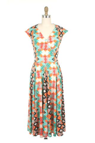 Evie Jersey Dress in Orange