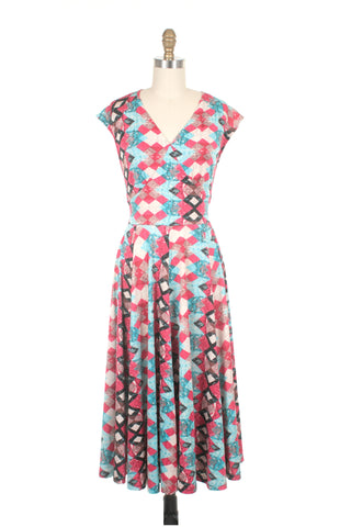 Evie Jersey Dress in Pink
