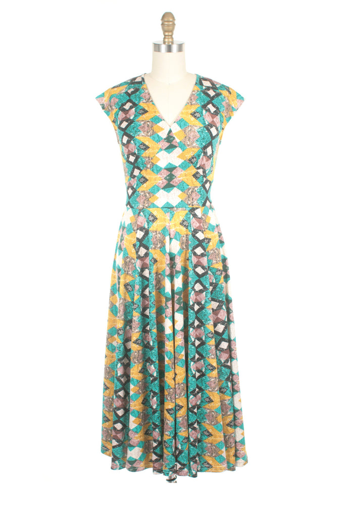 Evie Jersey Dress in Teal - Last One!