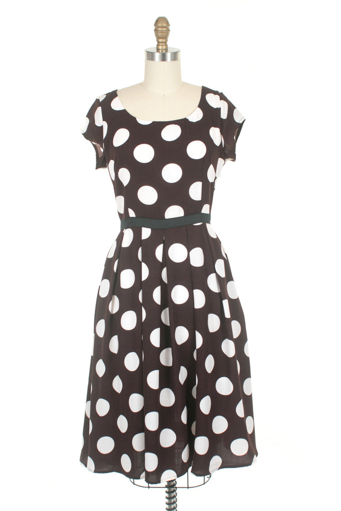Dot Dress in Brown