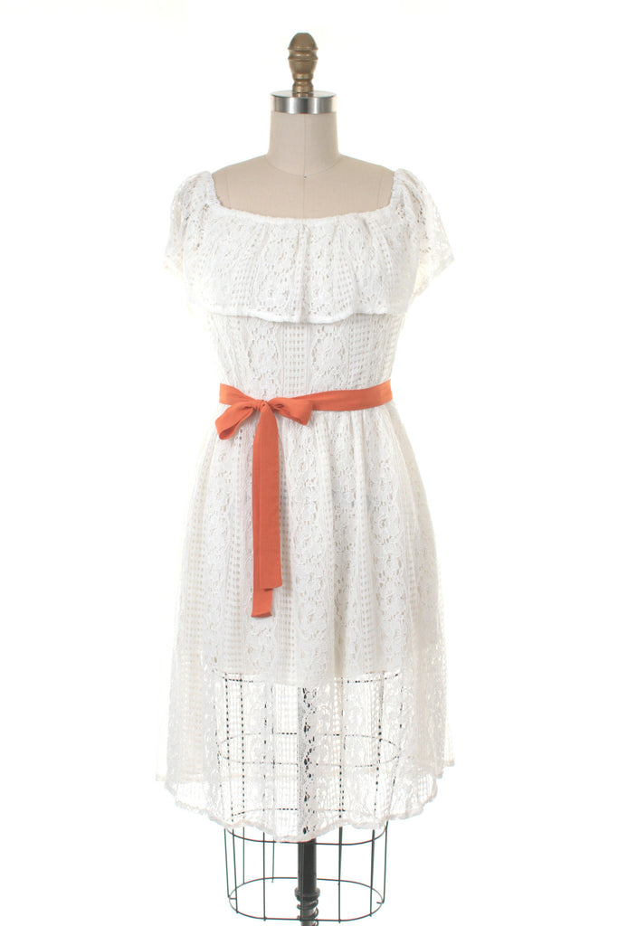 Amelia Lace Dress in Ivory
