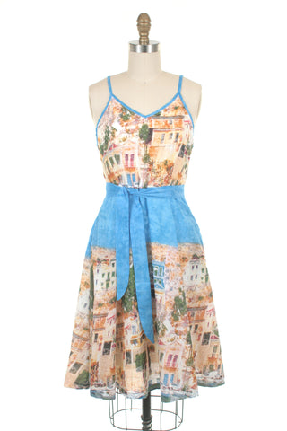 Village Dress in Blue