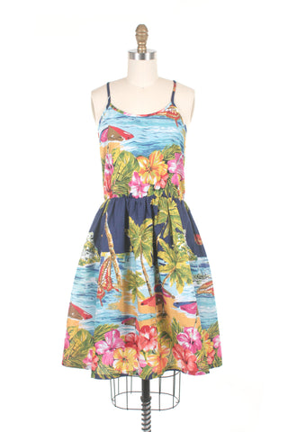 Aloha Dress in Blue