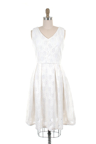 Vale Eyelet Dress in Ivory - Last One!