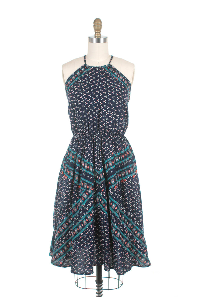 Hayley Halter Dress in Navy