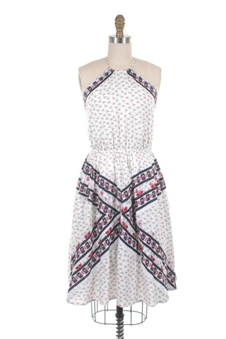 Hayley Halter Dress in White